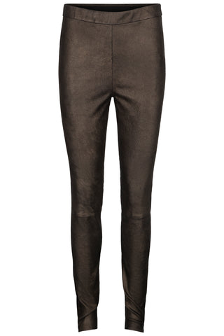 Kudibal Saint leather leggings AW/19 gold