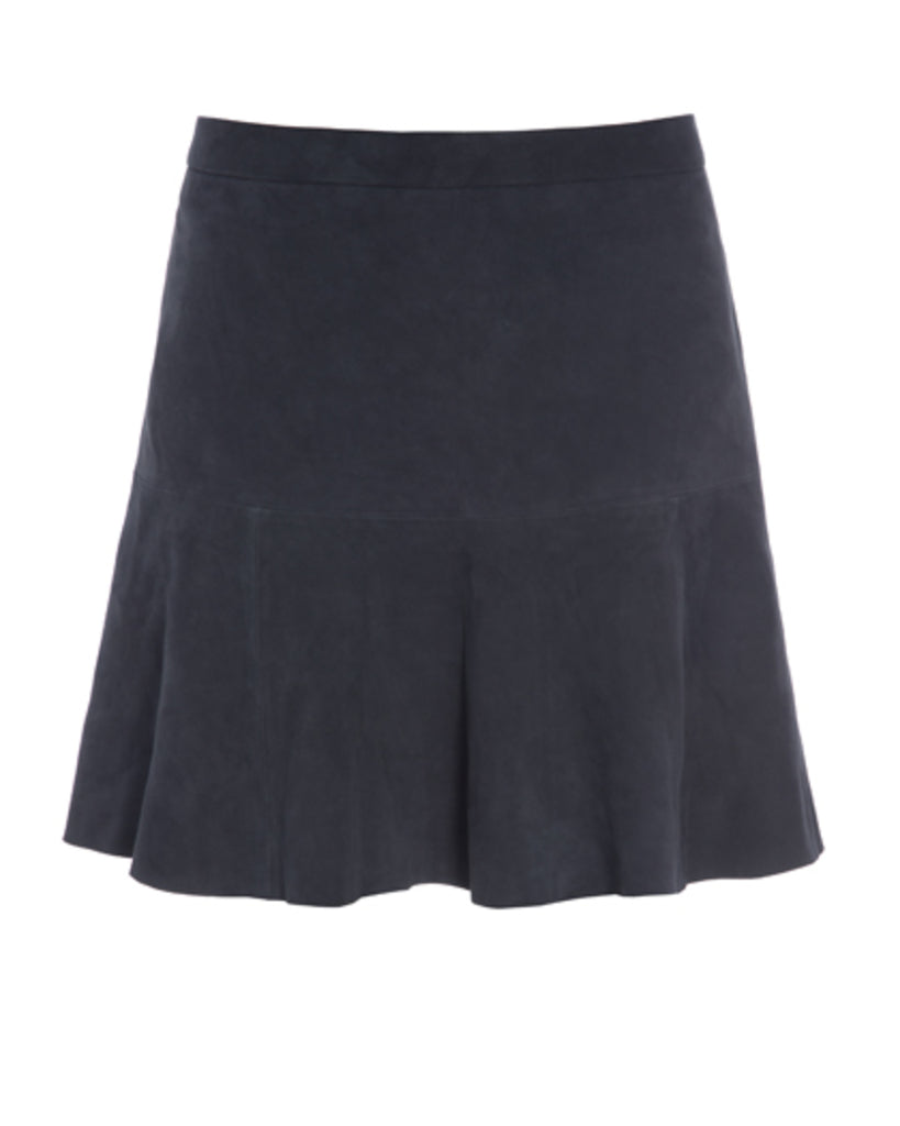 Kudibal Lauren suede skirt Blue UDSALG