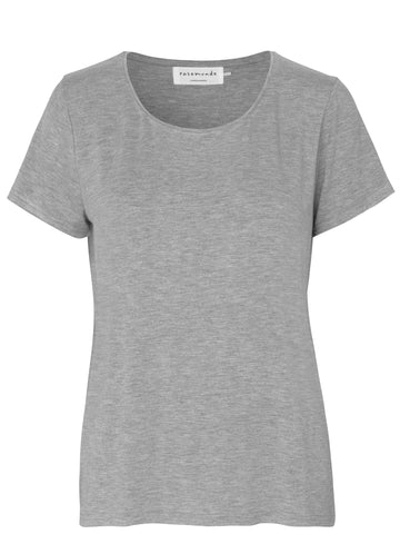 Rosemunde viscose T-shirt Light grey
