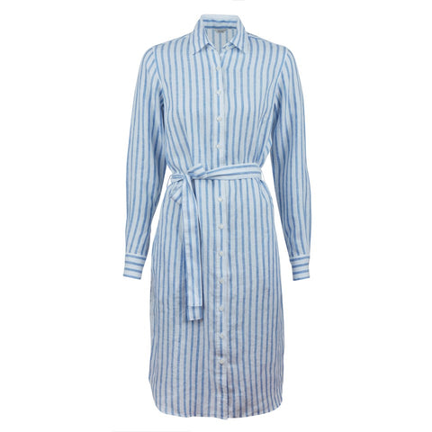 Stenströms linen dress SS/20 blue striped