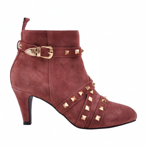 Jasmin suede boots basic earth red