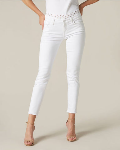 7 jeans Pyper crop unrolled slim pure white UDSALG