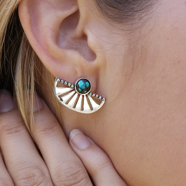 Adrift Earrings with Turquoise
