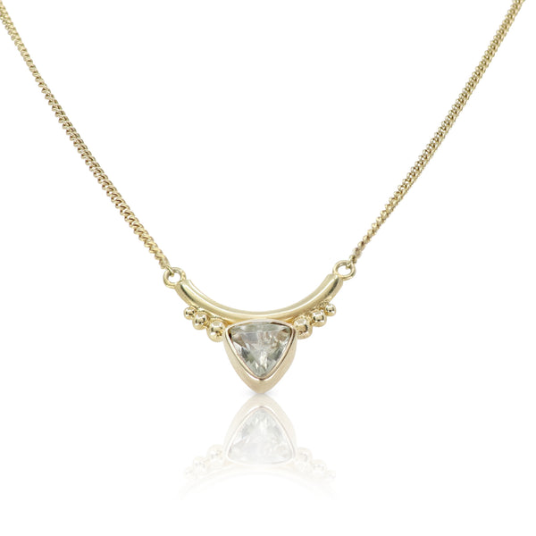 The Bower Green Amethyst Gold Necklace