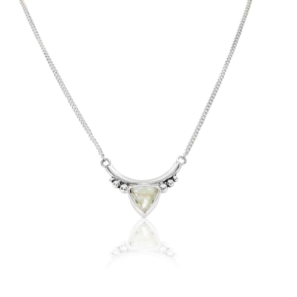 The Bower Green Amethyst Silver Necklace