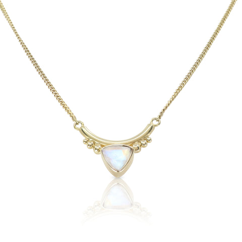 The Bower Moonstone Gold Necklace