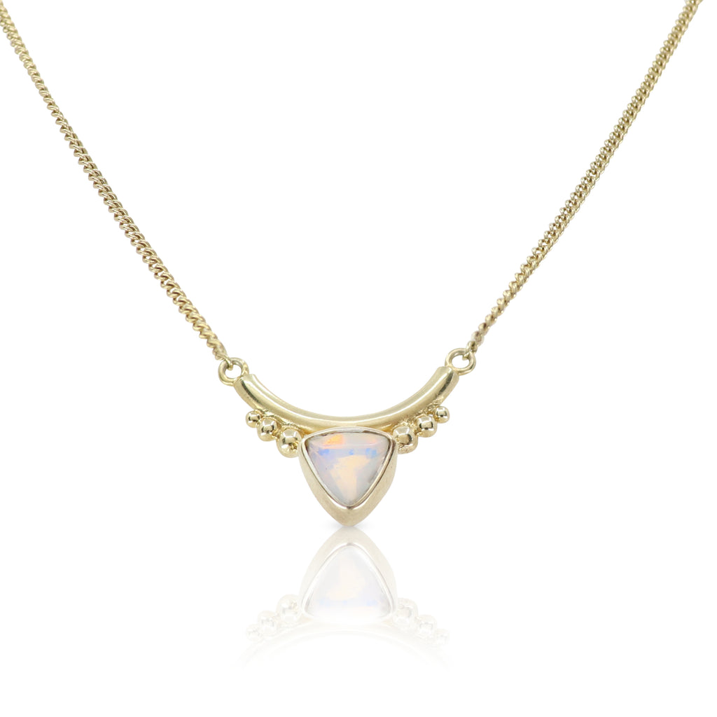 The Bower Opal Gold Necklace