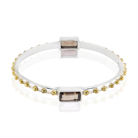 The Celine Smokey Quartz Bangle