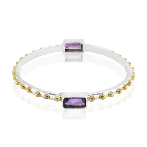 The Celine Amethyst Bangle