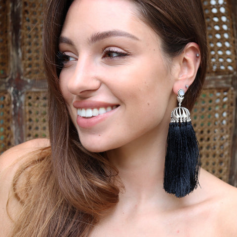 Carnival Earrings - BLACK