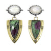 Cassius Ruby Zoisite and Moonstone Earrings