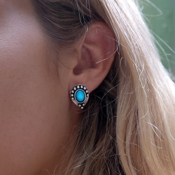 Coralie Turquoise Studs