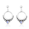 Coronet Moonstone Earrings