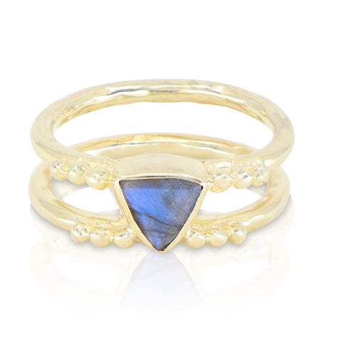 Delta Labradorite Gold Ring