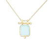 Etheria Aqua Chalcedony Gold Necklace