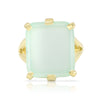 Etheria Aqua Chalcedony Gold Ring