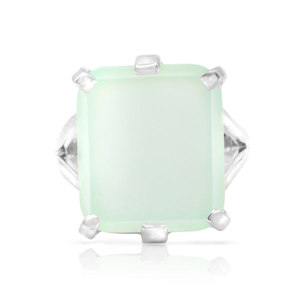 Etheria Aqua Chalcedony Silver Ring