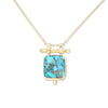 Etheria Copper Turquoise Gold Necklace