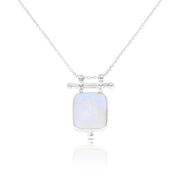 Etheria Moonstone Silver Necklace