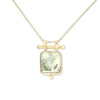 Etheria Prehnite Gold Necklace