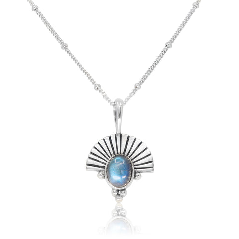 The Empress Labradorite Silver Necklace