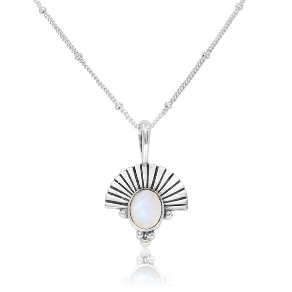The Empress Moonstone Silver Necklace