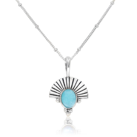 The Empress Amazonite Silver Necklace