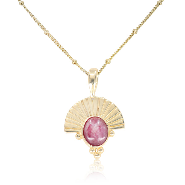 The Empress Ruby Gold Necklace