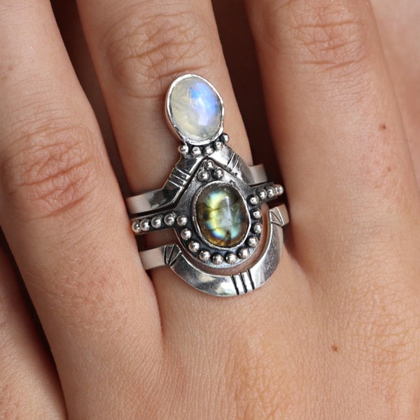 Moonstone and Labradorite Solace Stack
