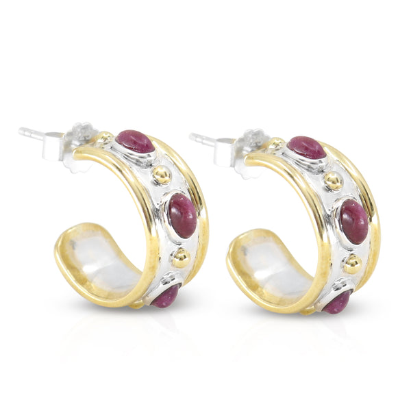 The Imperial Ruby Hoops