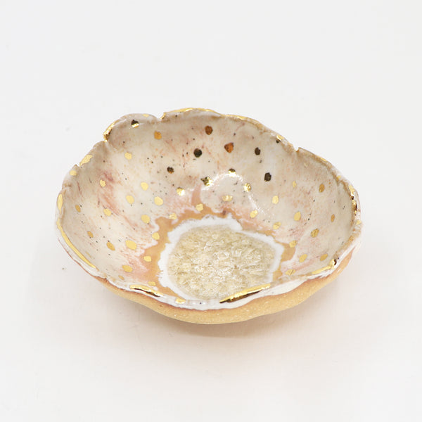Gold Dot Ring Dish
