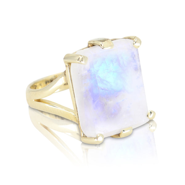 Etheria Moonstone Gold Ring