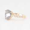Grey diamond and pavé white diamond eternity band
