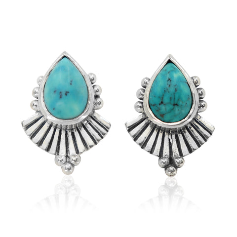 Cleopatra Turquoise Earrings