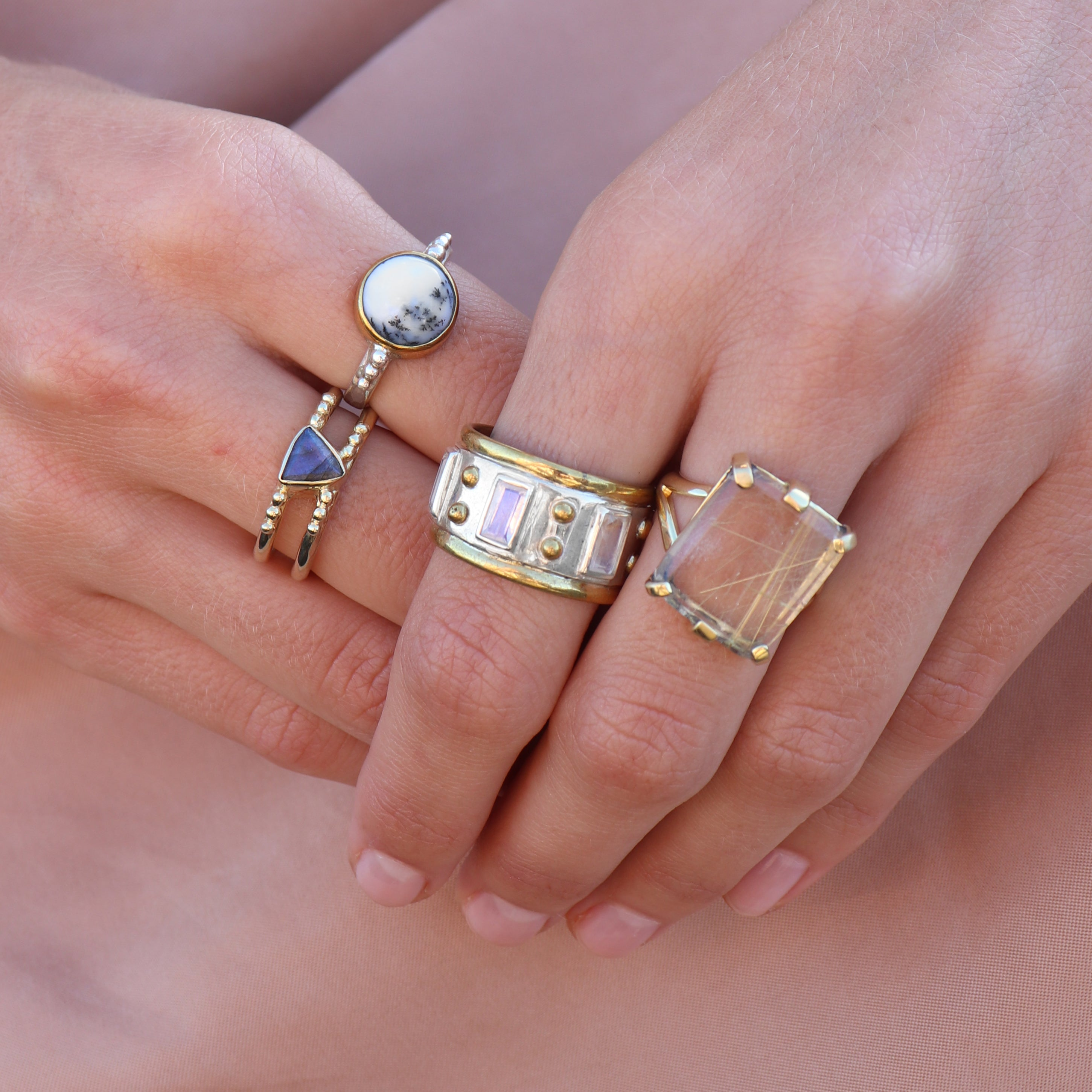 The Regal Moonstone Ring