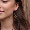 Night Skies Gold Hoops