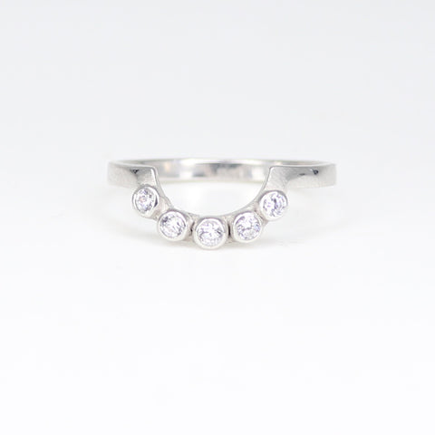 white gold TiARA RING