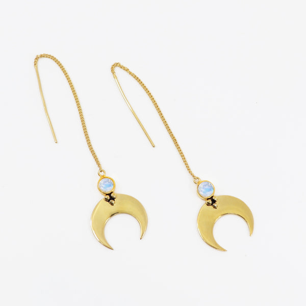ECLIPSE THREAD EARRINGS GOLD PLATED