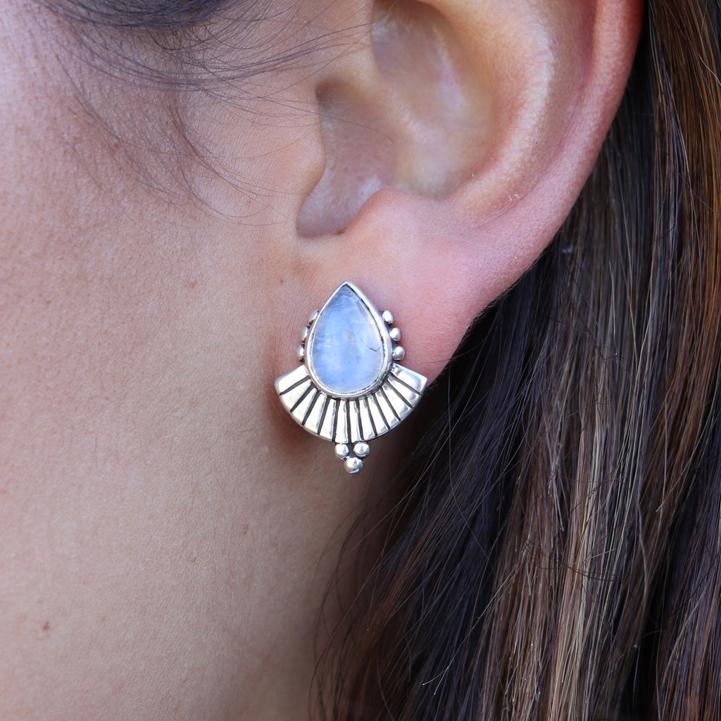 Cleopatra earrings moonstone