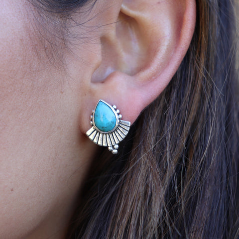 Cleopatra earrings Turquoise