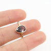 Black fragmented Rutilated quartz ring with white diamonds