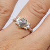 Celestial ring with diamond Pavè