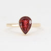Dark Raspberry Tourmaline 9k yellow gold