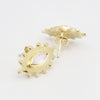 Marquise Eye Gold Moonstone Studs