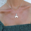 New Moon Silver Necklace