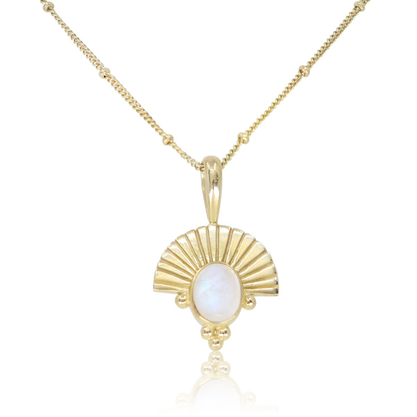 The Empress Moonstone Gold Necklace