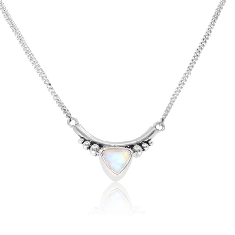 The Bower Moonstone Silver Necklace
