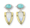 Cassius Moonstone and Turquoise Earrings