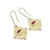Neo Garnet Earrings
