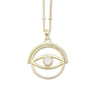 Spinning Eye Gold Necklace